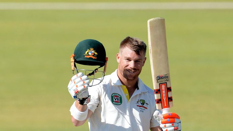 David Warner: Fell in the last over of the day