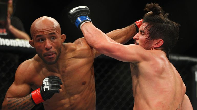 Demetrious Johnson (L): Will put his UFC flyweight title on the line against John Moraga