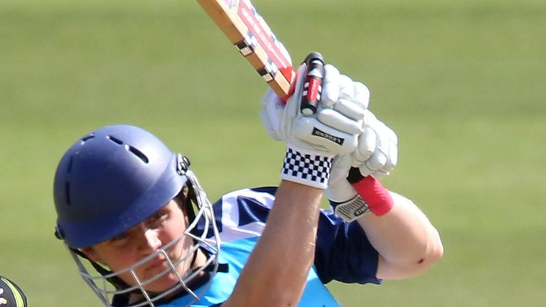 Ewan Chalmers: Scotland batsman's maiden first-class century saw them up to 341 in second innings