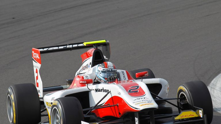 Facu Regalia: On pole in Germany (Image: GP3 Series Media)