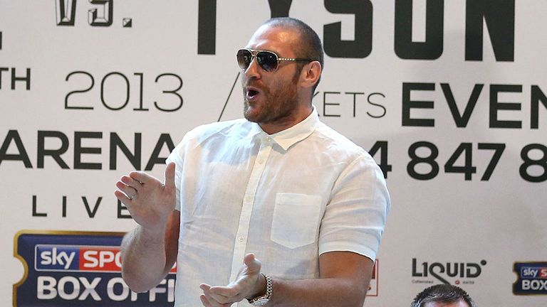 Tyson Fury welcomes David Haye to their press conference