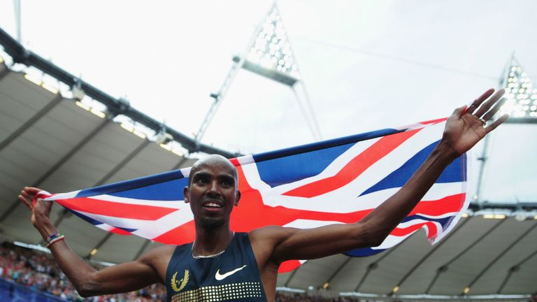 Stomping ground: Mo Farah recorded a third Saturday victory in the Olympic Stadium on his return