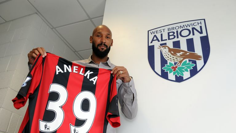 New signing Nicolas Anelka of West Bromwich Albion. Credit WBA