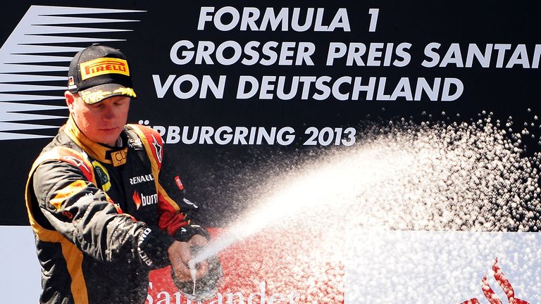 Raikkonen finished second at the rest German GP