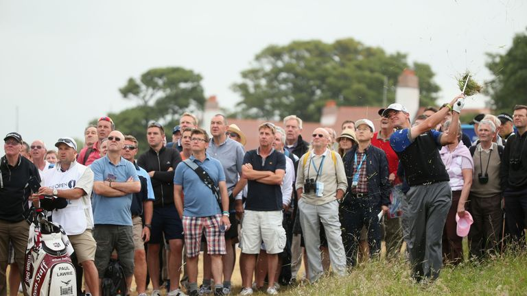 Paul Lawrie attracted an appreciative gallery for his early round of 70