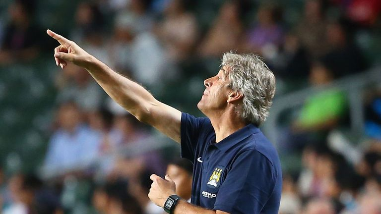 Manuel Pellegrini: Able to count on the services of four top-quality forwards