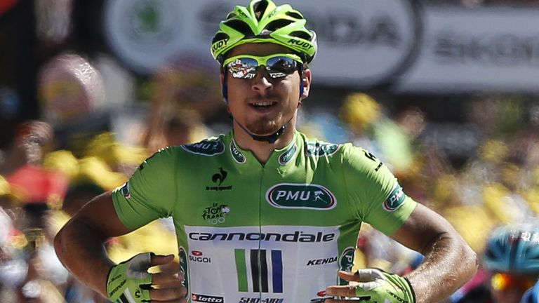 Peter Sagan took his first stage win of the 2013 Tour