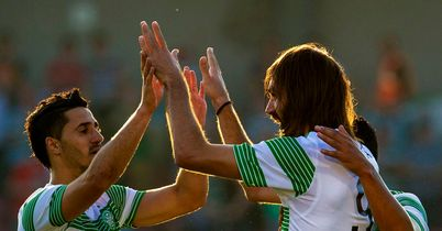 Samaras (right): Struggling for fitness