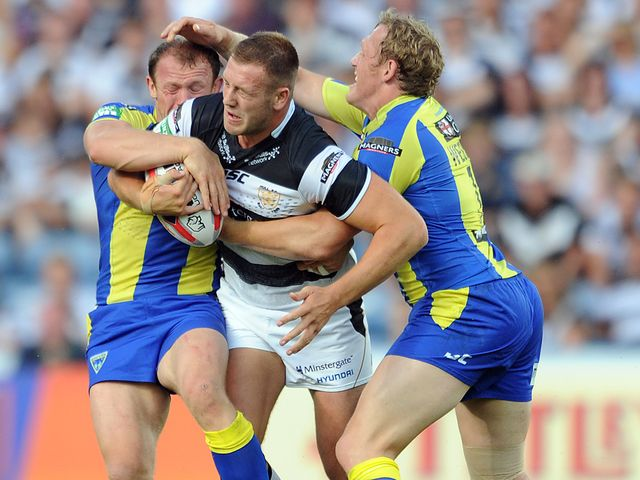 Hull FC's Liam Watts is tackled