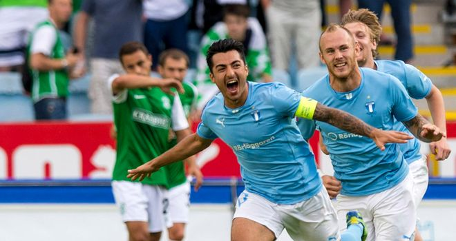 Jiloan Hamad: His goal set Malmo on course for victory