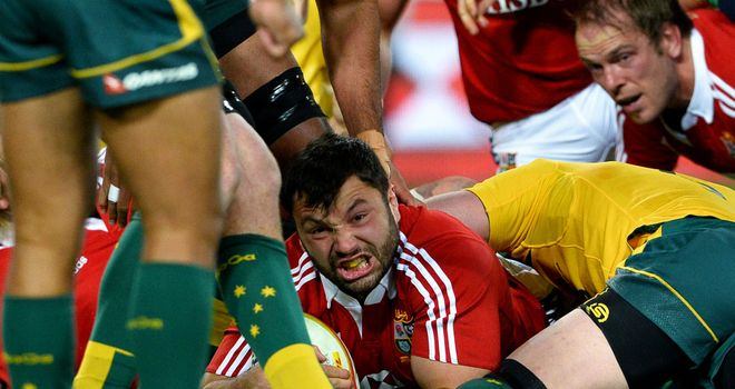 Alex Corbisiero: Scored opening try in third Lions Test