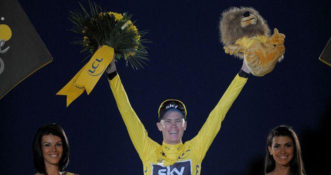 Chris Froome: Briton celebrates his Tour de France success