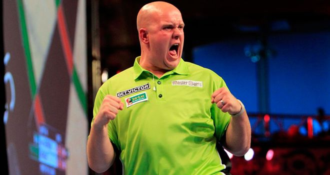 Michael van Gerwen: Lost just three legs in the process of beating Peter Wright