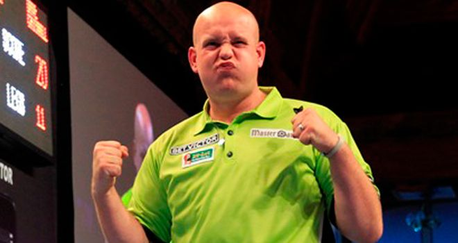 Nervy win for Michael van Gerwen in Germany