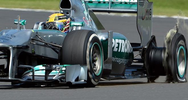 Sunday's German GP was marred by a series of tyre failures