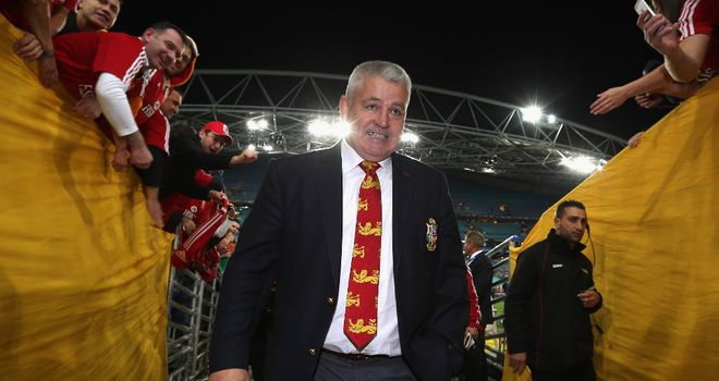 Warren Gatland: Led the Lions to victory in Australia last summer
