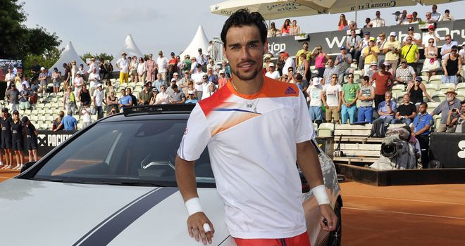 Fabio Fognini with this week's bonus prize