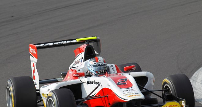 Facu Regalia: On pole in Germany (Image: GP3 Series Media)