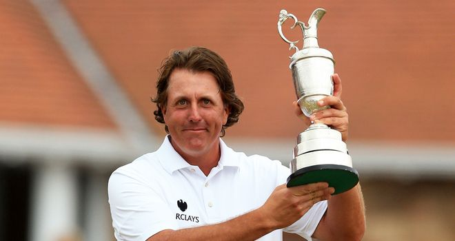 Phil Mickelson: Won first Claret Jug with superb closing 66 at Muirfield