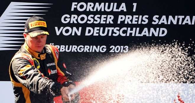 Raikkonen finished second at the rest German GP