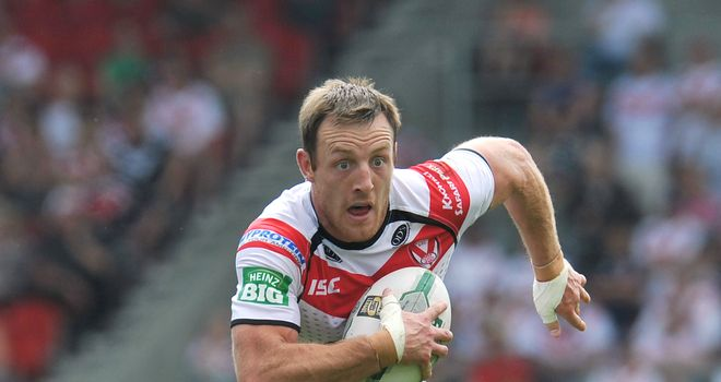 James Roby: scored in his testimonial but was on the losing side