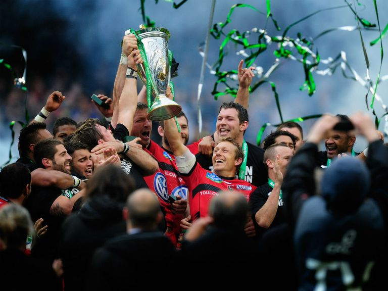 Toulon celebrate winning last season's Heineken Cup