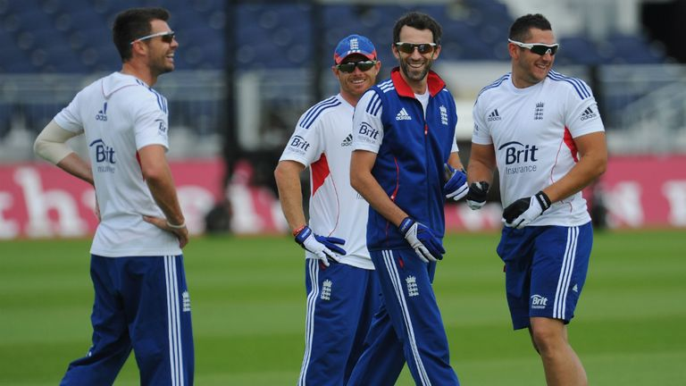 Graham Onions (centre): Durham seamer is back in England squad for Ashes Test on his home ground