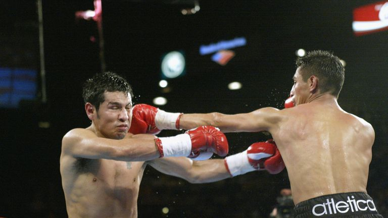 Barrera (L) and Morales engaged in some epic bouts, says Glenn