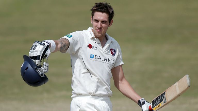 Ben Harmison: Celebrates making a ton for Kent at Canterbury
