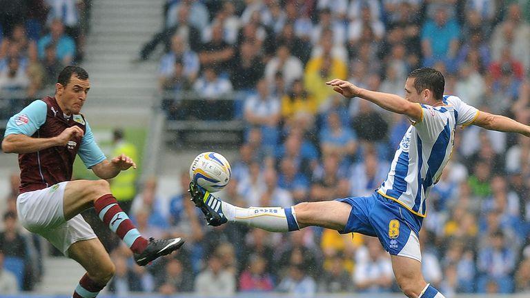 Andrew Crofts: Goalscorer beats Dean Marney to the ball