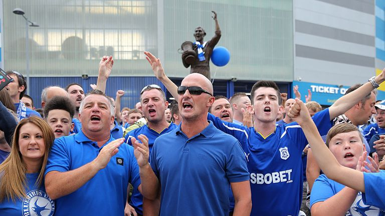 Cardiff fans: Have proudly worn the club's blue shirts