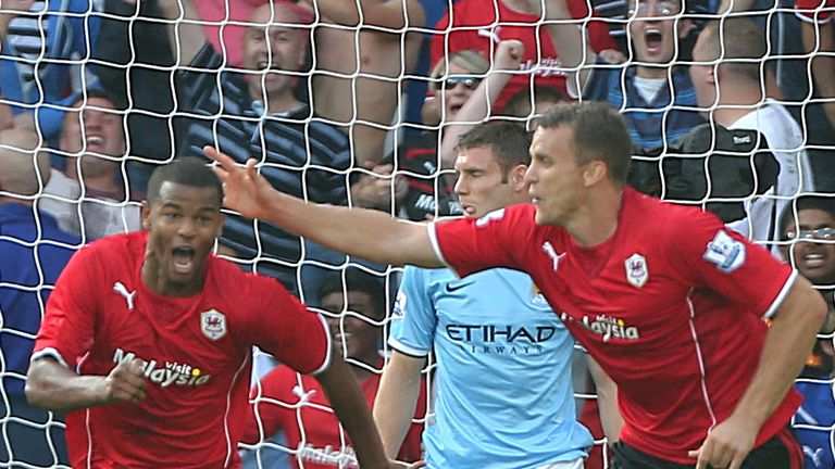 Cardiff secured a memorable win over Manchester City