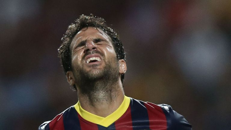 Cesc Fabregas: Injured during Barca's 3-1 win over a Malaysia XI