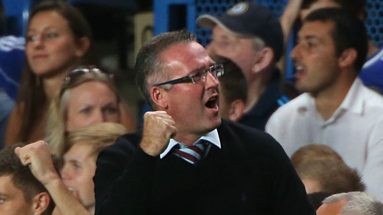 Paul Lambert: Vowed his Aston Villa side will continue to play positively
