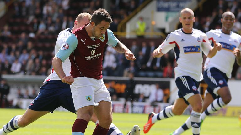 Danny Ings: His effort is deflected in for the game's opening goal