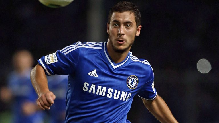 Eden Hazard: Netted Chelsea's second goal in the friendly win over Inter Milan