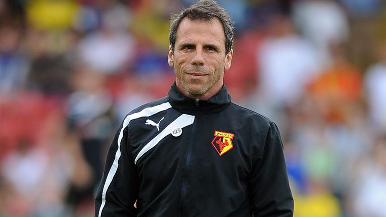 Gianfranco Zola: Has overseen a perfect start at Watford