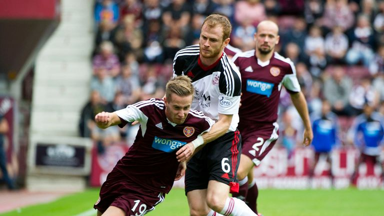 Hearts: Came out on top in a feisty clash at Tynecastle