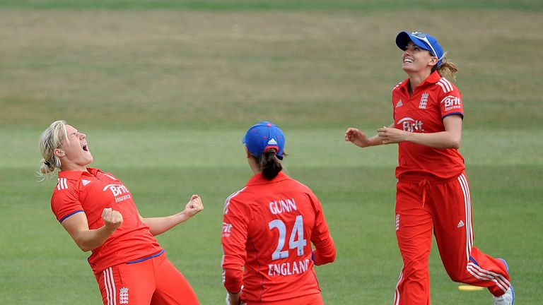 Brunt (left) says England's women are fired up after men's defeat