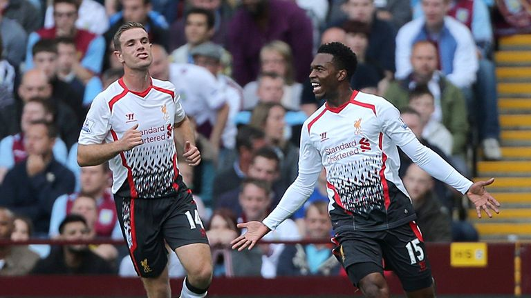 Sturridge: settled the clash at Villa Park