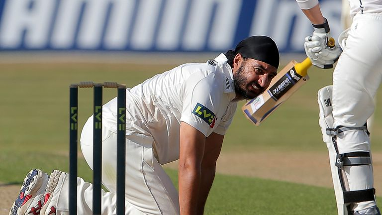 Monty Panesar: Took three wickets to strengthen Essex's position at Canterbury