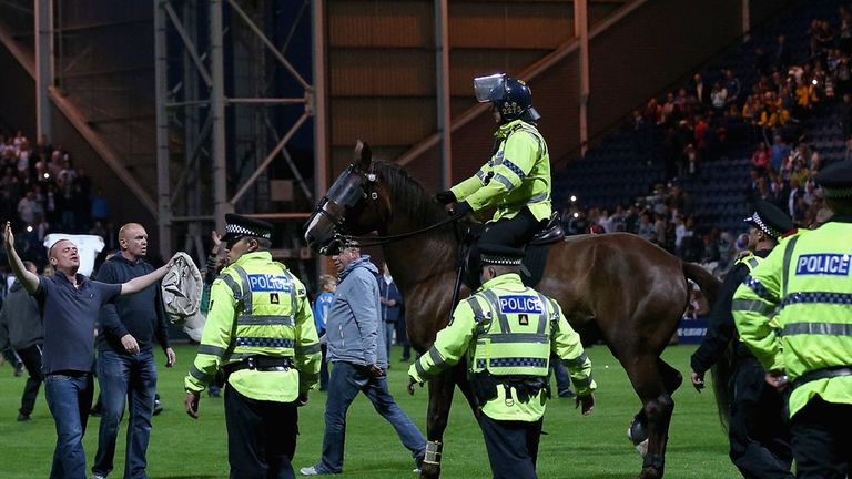 Police clear Deepdale pitch