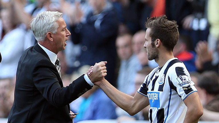 Alan Pardew: Pleased with Yohan Cabaye's reception