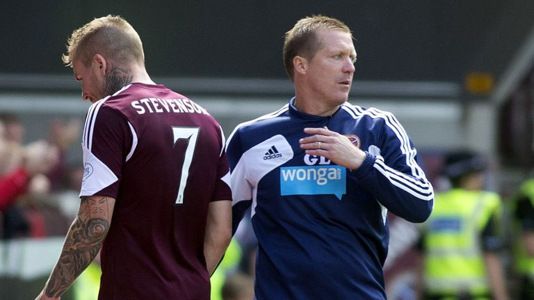 Ryan Stevenson: Returned for Hearts after six games out