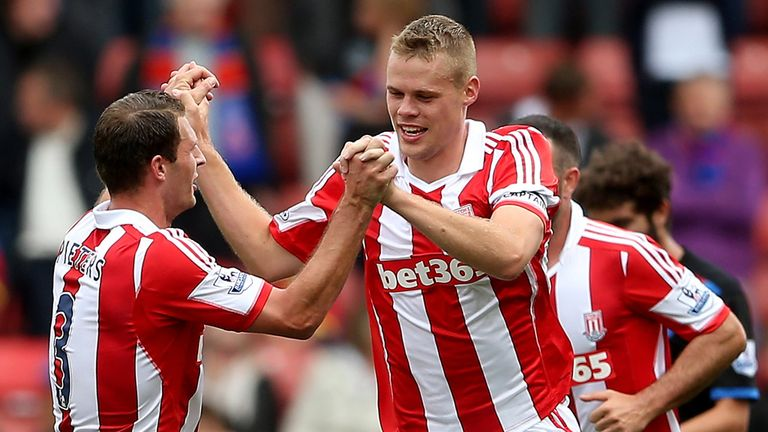 Stoke: Claimed first win of the season against Crystal Palace