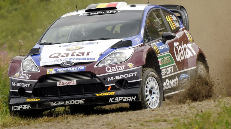 Thierry Neuville during the opening day in Finland