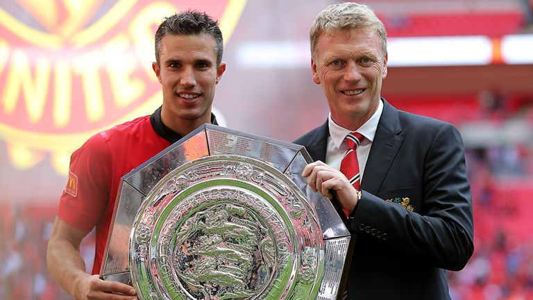 Robin van Persie and David Moyes: capable of winning more silverware for United, says Jeff