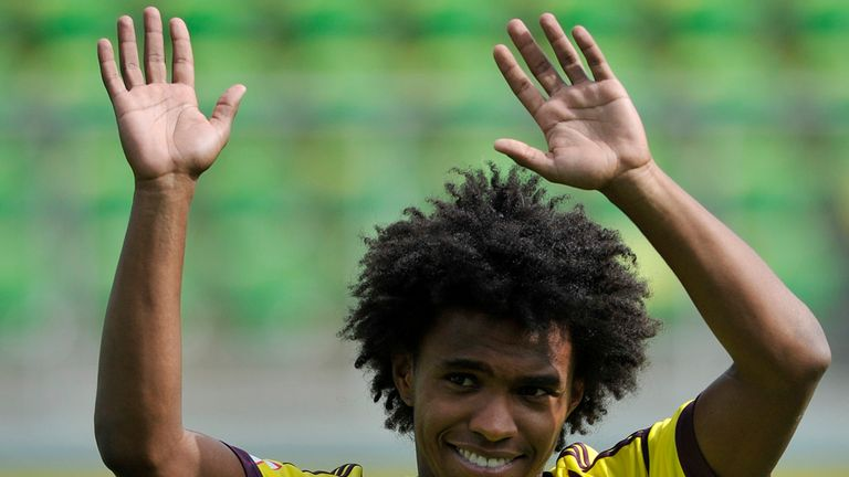 Willian: Linked with Liverpool and Tottenham this summer