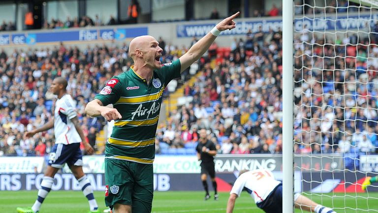 Andrew Johnson: QPR striker celebrates scoring the winner in the 1-0 victory at Bolton