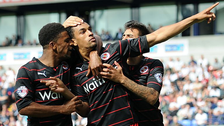 Nick Blackman: Celebrates after scoring the equaliser from the spot
